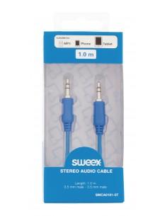 Sweex 3.5 mm / mm, 1 m audiokaapeli 3.5mm Sininen Sweex SMCA0101-07 - 1
