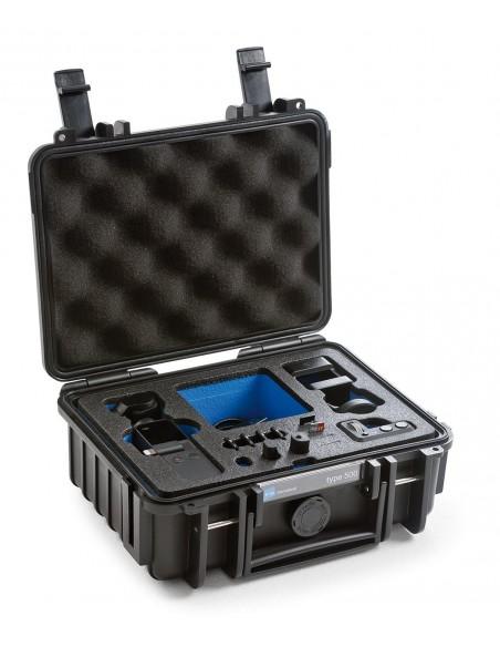 B&W Type 500 DJI Osmo Pocket kameradroonin kotelo Salkku Musta Polypropeeni (PP) B&w International 500/B/OSMOP - 4