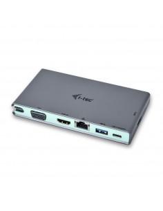 i-tec C31TRAVELDOCKPD kannettavien tietokoneiden telakka ja porttitoistin Langallinen USB 3.2 Gen 1 (3.1 1) Type-C Harmaa I-tec
