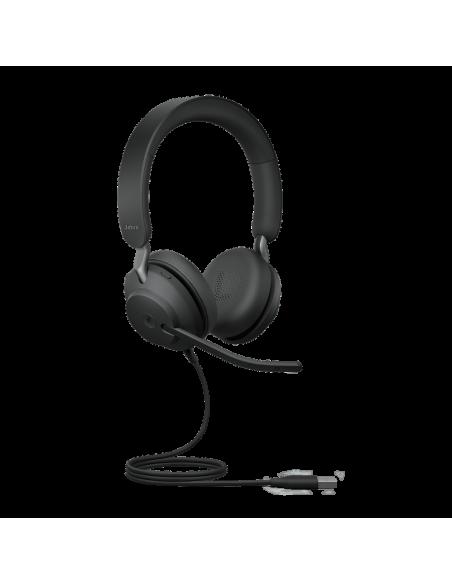 Jabra Evolve2 40. MS Stereo Kuulokkeet Pääpanta Musta Jabra 24089-999-999 - 2