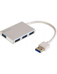 Sandberg USB 3.0 Pocket Hub 4 ports 3.2 Gen 1 (3.1 1) Type-A 5000 Mbit/s White Sandberg 133-88 - 1
