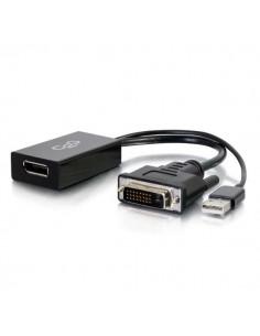 C2G 81319 cable gender changer USB-A, DVI-I DisplayPort Musta C2g 81319 - 1