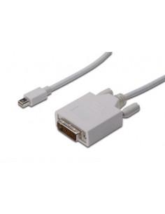 ASSMANN Electronic AK-340305-030-W video cable adapter 3 m mini DisplayPort DVI-D White Assmann AK-340305-030-W - 1