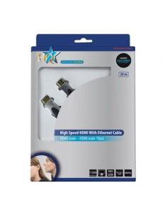 HQ HDMI/HDMI, m/m, 20m HDMI-kaapeli HDMI-tyyppi A (vakio) Harmaa Hq HQSS5560-20A24 - 1