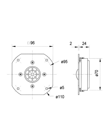 Visaton VS-DSM25FFL/8 Visaton 1153 - 2