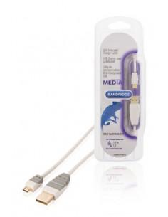 Bandridge 30m USB 2.0 A - Micro B m/m USB-kaapeli Micro-USB Valkoinen Bandridge BBM60410W30 - 1