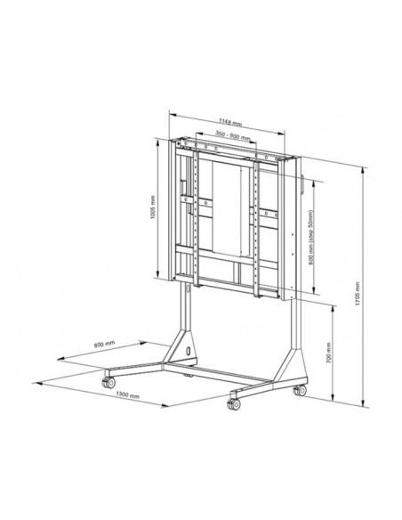 """Multibrackets 1145 kyltin näyttökiinnike 2.79 m (110"""") Valkoinen Multibrackets 7350073731145 - 20"""