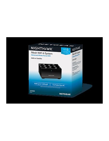 Netgear Nighthawk Mesh WiFi 6 Add-On Satellite wireless router Gigabit Ethernet Dual-band (2.4 GHz / 5 GHz) Black Netgear MS60-1