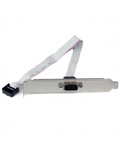 StarTech.com 16in (40cm) 9 Pin Serial Male to 10 Motherboard Header Slot Plate Startech PLATE9M16 - 1