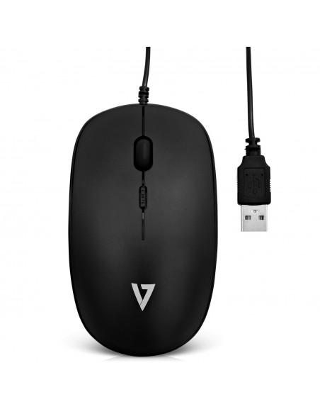 V7 MU200-1E hiiri USB A-tyyppi Optinen 1600 DPI Molempikätinen V7 Ingram Micro MU200-1E - 3