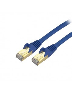 StarTech.com 10ft CAT6a Ethernet Cable - 10 Gigabit Shielded Snagless RJ45 100W PoE Patch Cord 10GbE STP Network w/Strain Starte