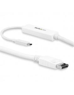 StarTech.com CDP2DPMM3MW videokaapeli-adapteri 3 m USB Type-C DisplayPort Valkoinen Startech CDP2DPMM3MW - 1