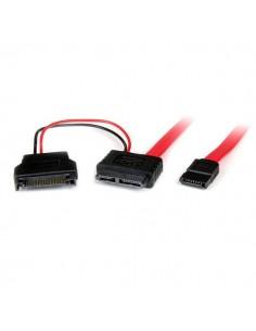 StarTech.com 0.5m SATA SATA-kablar 0.5 m 7-pin Svart, Röd Startech SLSATAF50CMS - 1