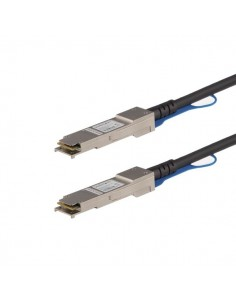 StarTech.com MSA Uncoded Compatible 1m 40G QSFP+ to Direct Attach Breakout Cable Twinax - 40 GbE Copper DAC Gbps Low Power Start