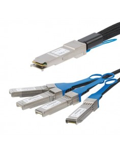 StarTech.com QSFP4SFPPC1M verkkokaapeli Musta 1 m Startech QSFP4SFPPC1M - 1