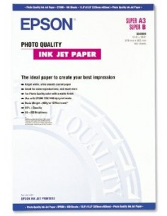 Epson Photo Quality Ink Jet Paper, DIN A3+, 102g/m², 100 Sheets Epson C13S041069 - 1