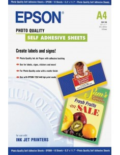 Epson Self-Adhesive Photo Paper - A4 10 arkkia Epson C13S041106 - 1