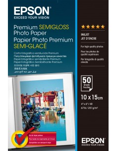 Epson Premium Semi-Gloss Photo Paper - 10x15cm 50 ark Epson C13S041765 - 1