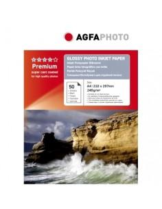 AgfaPhoto AP24050A4N tulostuspaperi A4 (210x297 mm) Kiilto 50 arkkia Valkoinen Agfaphoto AP24050A4N - 1
