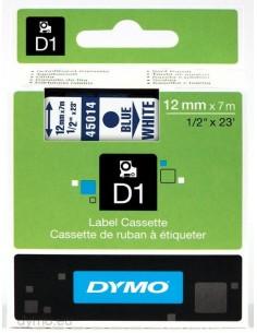 DYMO D1 - vakiopolyesteritarrat Sininen valkoisella -12mm x 7m Dymo S0720540 - 1
