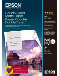 Epson Double-Sided Matte Paper - A4 50 ark Epson C13S041569 - 1