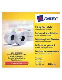 Avery PLP1626 liimaetiketti Valkoinen Hintalappu Kiinteä 12000 kpl Meto PLP1626 - 1