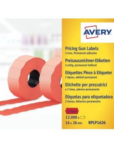 Avery RPLP1626 liimaetiketti Punainen Hintalappu Kiinteä 12000 kpl Meto RPLP1626 - 1