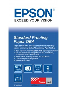 "Epson Standard Proofing Paper OBA 17"" x 30.5 m Epson C13S450187 - 1"