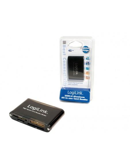 LogiLink Cardreader USB 2.0 kortinlukija Musta Logitech CR0013 - 1