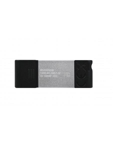 Kingston Technology DataTraveler 80 USB-muisti 128 GB USB Type-C 3.2 Gen 1 (3.1 1) Musta, Hopea Kingston DT80/128GB - 2
