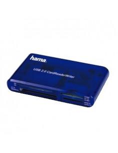Hama USB CardReaderWriter 35in1 kortläsare Blå Hama 55348 - 1