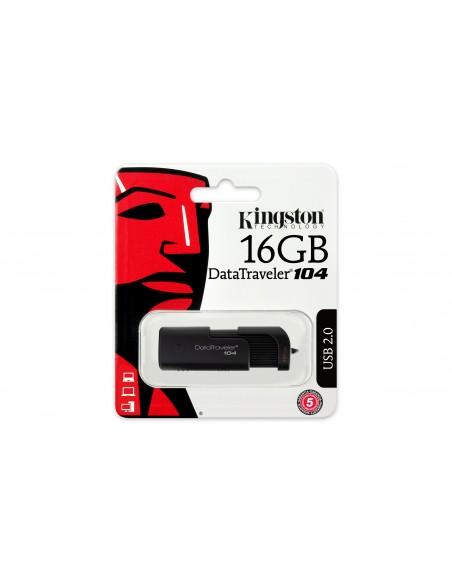 Kingston Technology DataTraveler 104 USB-muisti 16 GB USB A-tyyppi 2.0 Musta Kingston DT104/16GB - 3
