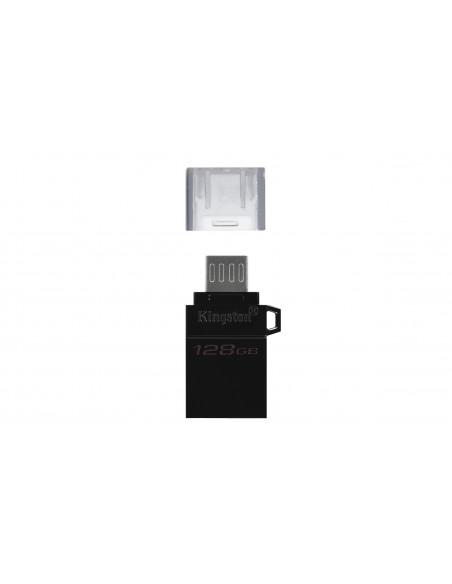 Kingston Technology DataTraveler microDuo3 G2 USB-muisti 128 GB USB Type-A / Micro-USB 3.2 Gen 1 (3.1 1) Musta Kingston DTDUO3G2