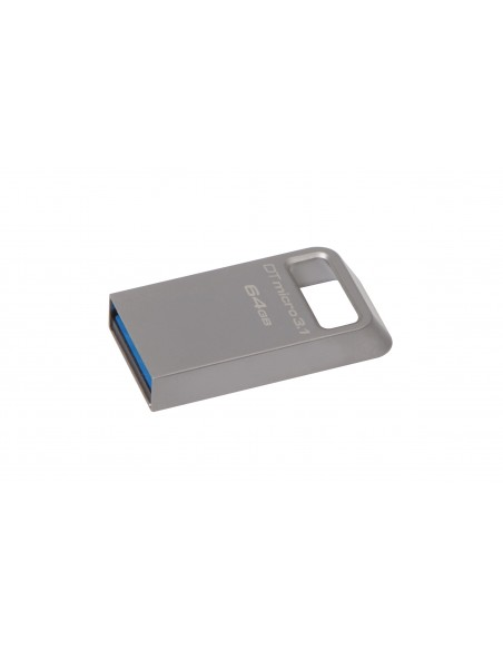 Kingston Technology DataTraveler Micro 3.1 64GB USB-muisti USB A-tyyppi 3.2 Gen 1 (3.1 1) Metallinen Kingston DTMC3/64GB - 1