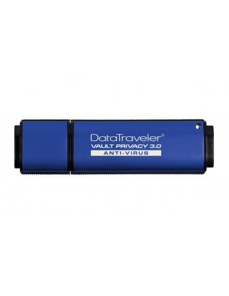 Kingston Technology DataTraveler Vault Privacy 3.0 Anti-Virus 64GB USB-muisti USB A-tyyppi 3.2 Gen 1 (3.1 1) Sininen Kingston DT