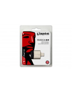 Kingston Technology MobileLite G4 kortinlukija USB 3.2 Gen 1 (3.1 1) Musta, Harmaa Kingston FCR-MLG4 - 1