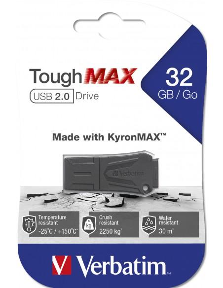 Verbatim ToughMAX USB-muisti 32 GB USB A-tyyppi 2.0 Musta Verbatim 49331 - 4