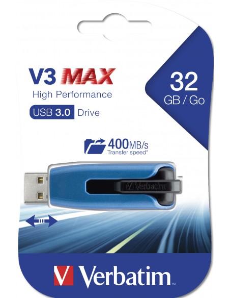 Verbatim Store 'n' Go V3 Max USB-muisti 32 GB USB A-tyyppi 3.2 Gen 1 (3.1 1) Sininen Verbatim 49806 - 5