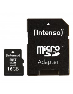 Intenso 16GB MicroSDHC flash-muisti Luokka 10 Intenso 3413470 - 1