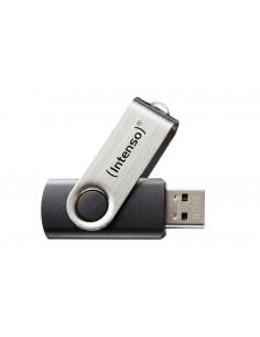 Intenso Basic Line USB-muisti 64 GB USB A-tyyppi 2.0 Musta, Hopea Intenso 3503490 - 1