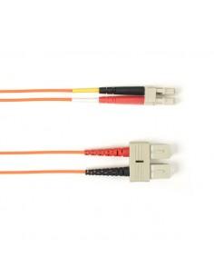 Black Box SC–LC 3m valokuitukaapeli OM3 Oranssi Black Box FOCMR10-003M-SCLC-OR - 1