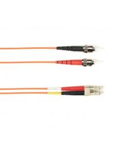 Black Box FO Patch Cable Col 10Gbit Multi-m - Orang LC-ST 5m valokuitukaapeli OFNR OM3 Oranssi Black Box FOCMR10-005M-STLC-OR -
