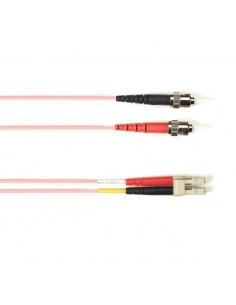 Black Box FO Patch Cable Col 10Gbit Multi-m - Pink LC-ST 5m valokuitukaapeli OFNR OM3 Vaaleanpunainen Black Box FOCMR10-005M-STL