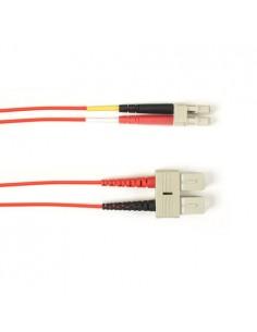 Black Box FOCMR10-015M-SCLC-RD valokuitukaapeli 15 m OFNR OM3 SC LC Punainen Black Box FOCMR10-015M-SCLC-RD - 1