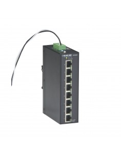 Black Box LPH008A-R2 verkkokytkin Hallitsematon Gigabit Ethernet (10/100/1000) Musta Power over -tuki Black Box LPH008A-R2 - 1
