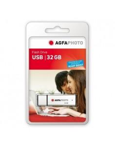 AgfaPhoto USB Flash Drive 2.0, 32GB USB-muisti A-tyyppi Hopea Agfaphoto 10514 - 1