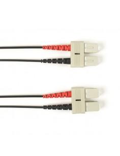 Black Box FO Patch Cable Color Multi-m OM4 - SC-SC 20m valokuitukaapeli LSZH Musta Black Box FOLZHM4-020M-SCSC-BK - 1