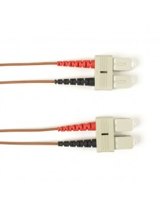 Black Box FO Patch Cable Color Multi-m OM4 - Brown SC-SC 20m valokuitukaapeli LSZH Ruskea Black Box FOLZHM4-020M-SCSC-BR - 1