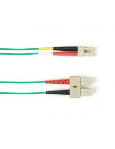 Black Box FOLZHSM-002M-SCLC-GN valokuitukaapeli 2 m LSZH OS2 SC LC Vihreä Black Box FOLZHSM-002M-SCLC-GN - 1