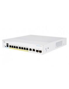 Cisco CBS350-8P-E-2G-EU nätverksswitchar hanterad L2/L3 Gigabit Ethernet (10/100/1000) Silver Cisco CBS350-8P-E-2G-EU - 1